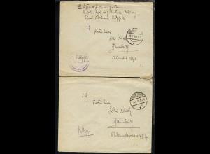 1918 DFP * + undeutl. BfSt. Rekruten-Komp. d. 1. Seeflieger-Abtlg