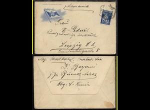 ca. 1925 Bf. (HAL-Umschlag) aus Portugal (undeutl. Stpl.) nach Leipzig,