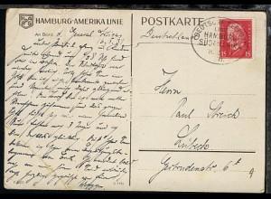 DSP HAMBURG-SÜDMAMERIKA 16.5.31 XII auf Künstler-AK (Dampfer General Artigas),