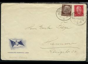 DSP HAMBURG-SÜDAMERIKA 25.1.34 a auf Reederei-Umschlag