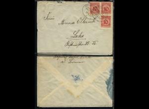 DSP BREMEN-NEW YORK 18.6.24 c auf Reederei-Umschlag, Bf. stärkere Bef.-Sp.