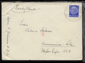 DSP BREMEN-OSTASIEN D. GNEISENAU 9.8.37 auf Reederei-Umschlag