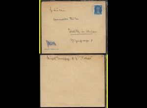 DSP HAMBURG-OSTAFRIKA 25.3.29 F auf Reederei-Umschlag vom Dampfer Toledo,