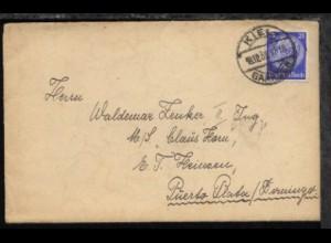 Bf. mit Inhalt ab Kiel 18.12.33 an den II. Ing. MS Claus Horn n