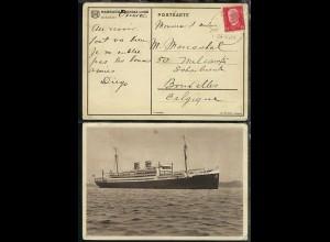 DSP HAMBURG-AMERIKA-LINIE 24.4.30 auf AK (Dampfer) vom Dampfer Orinoco