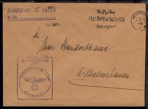 Maschinen-Stpl. Wesermünde 2.2.40 + L2 + BfSt. M 12615 (4. Vorposten-Flottille)