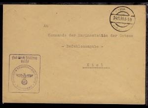 Tarn-Stpl. 24.11.39 + BfSt. 10417 (13. Vorposten-Flottille) auf Dienst-Bf.