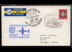 Messesonderflug Leipzig-Stockholm 5.3.1962