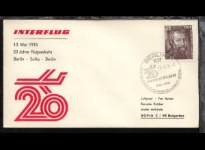 Erinnerungsflug 20 Jahre Berlin-Sofia-Berlin 13.5.1976