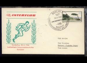 Sonderflug Leichathletik-EM Budapest 28.8.1966