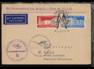 Messesonderflug Leipzig-Wien 27.2.1960