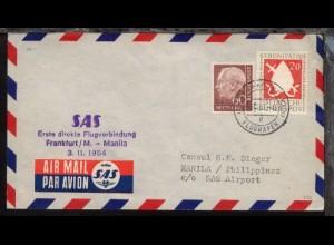 SAS-Erstflug-Bf. Frankfurt-Manila 3.11.1954