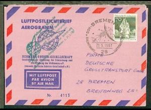 1967 Raketenflug Versuchsreihe 3/67 der Hermann-Oberth-Gesellschaft, SSt.