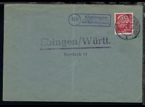 OSt. Rottenburg 8.6.55 + R2 14b Kiebingen über Rottenburg (Neckar) auf Bf.,
