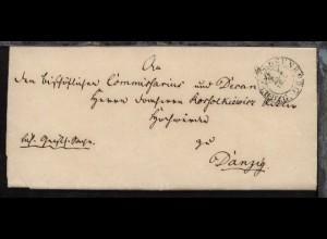 Rosenberg 1848 K2 ROSENBERG RG.B.DZG. 18.12. auf Bf. (Gerichtssache) nach Danzig
