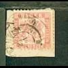 3 Kr. auf Bf.-Stück mit Stpl. WERTHEIM DERTINGEN POSTABL. + K2 WERTHEIM 25 JUN