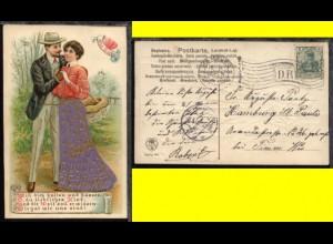 HAMBURG *** 8.5.1906 DR auf schöner Präge-CAK (Liebespaar)