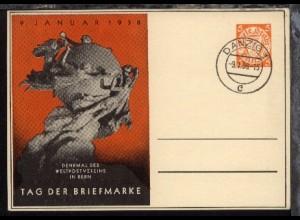 Tag der Briefmarke 1938 mit Blanko-Stpl. DANZIG 1 c 9.1.38