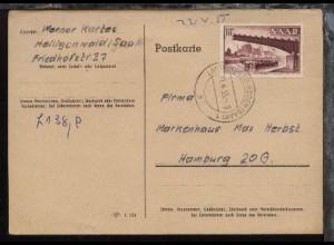 18 Fr. auf PK ab Landsweiler-Reden 21.4.55 nach Hamburg