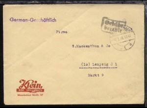 Bad Kreuznach OSt. BAD KREUZNACH 1 h 7.8.46 + R2 Gebühr bezahlt auf Firmen-Bf.