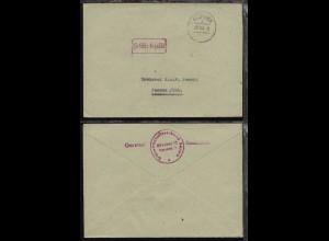 München OSt. MÜNCHEN 2 ba 29.11.45 + R1 Gebühr bezahlt auf Bf.