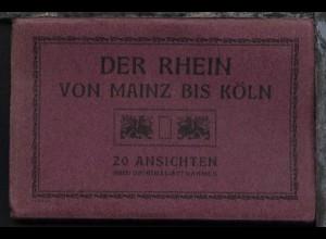 Der Rhein von Mainz bis Köln, Leporello mit 20 AK