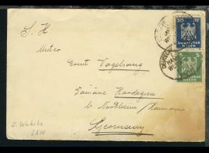 DSP HAMBURG-WESTAFRIKA 19.10.26 LXIII auf Reederei-Umschlag,