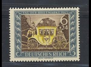 Tag der Briefmarke 1943 mit Plattenfehler Fleck im Fuß der 2