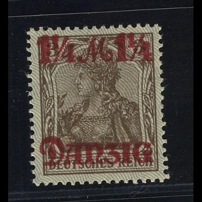 Germania 1¼ M auf 3 Pfg., Unterdruck Spitzen nach unten, *