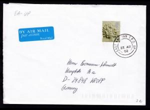 Großbritannien EAST ANGLIAN T.P.O. UP 22 AU 02 auf Brief mit Inhalt