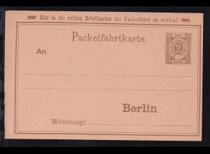 Berlin ungebrauchte Ganzsache 2 Pfg. der Berliner Omnibus- und Packetfahrt AG
