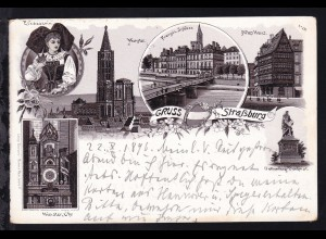Gruss aus Strassburg, 6 Bilder, 1896