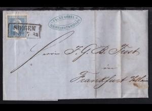 König Friedrich Wilhelm IV. 2 Sgr. auf Firmenbrief