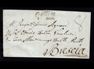 1840 L2 Mira 1 AGO. auf Brief nach Brescia