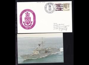 US NAVY USS GALLERY (FFG-26) SEP 28 1982 + Cachet auf Brief,
