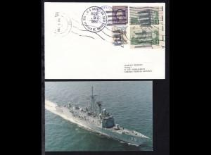 US NAVY USS STEPHEN W. GROVES (FFG 29) AUG 5 1982 auf Brief,