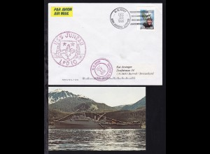 U.S. NAVY USS JUNEAU (LDP-10) DEC 18 1996 auf Brief, dazu CAK des Schiffes