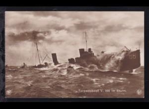 Torpedoboot V 188 im Sturm, 1914