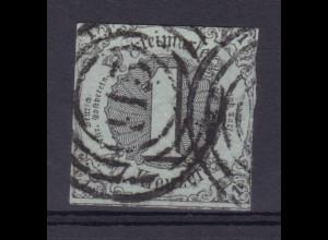 Ziffer 1 Kr. mit Nummernstempel 115 (= Giessen)