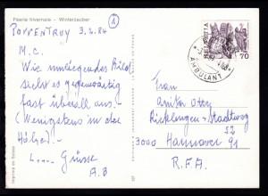 BAHNPOST AMBULANT 3.II.84 4768 auf CAK (Winterzauber)