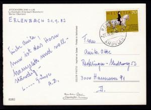BAHNPOST AMBULANT 21.IX.82 4617 auf CAK (Stockhorn)