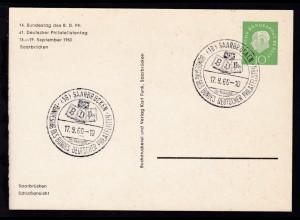 14. Bundestag des BDPh/61. Deutscher Philatelistentag Saarbrücken 1960