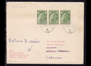 Brief ab Kopenhagen 28.10.57 einen Offizier beim YKSK nach Helsinki mit
