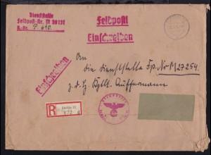 OSt. Stettin 20.5.42 + L3 + Briefstempel Dienststelle Feldpostnummer M 39131