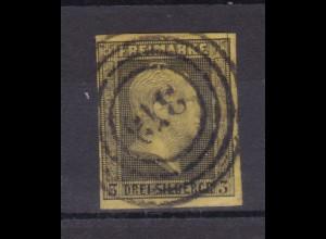 König Friedrich Wilhelm IV 3 Sgr. mit Nummernstempel 373 (= Elberfeld)
