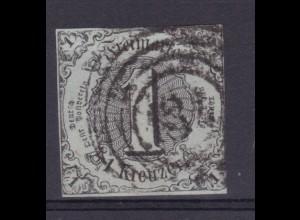 Ziffer 1 Kr. mit Nummernstempel 134 (= Mainz)
