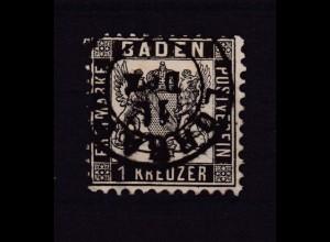 Wappen 1 Kr. mit K2 LÖRRACH 11. Dez