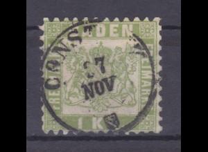 Wappen 1 Kr. mit K1 CONSTANZ 17 NOV