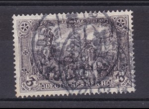 Freimarke 3 M. Kriegsdruck, Marke Nadelloch