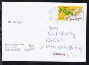 """OSt. Cadiz 27.5.98 + L1 MS """"ARKONA"""" auf Reederei-Umschlag"""